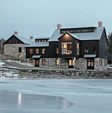 vintage barn frame addition to dutch stone house home