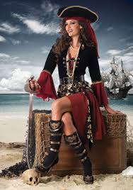 Halloween Costumes Pirate Woman Cruel Seas Captain Costume