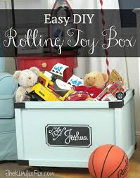 Build A Toy Box Diy by Easy Rolling Toy Box With A Chalkboard Label The Kim Six Fix