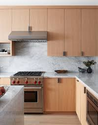 flat white wood kitchen cabinets custom white oak kitchen by bz interiors clear stained
