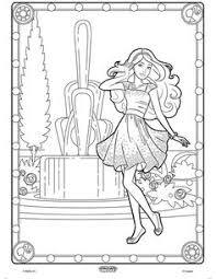 pictures color print girls barbie coloring pages