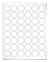 1 Inch Circle Template by Circular Laser And Inkjet Printer Labels 1 2 Inch Template