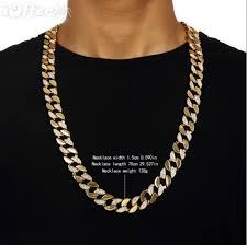 chain length mens necklace images Hip hop bling 18k gold cuban chain men 39 s necklace sn033 for sale jpg