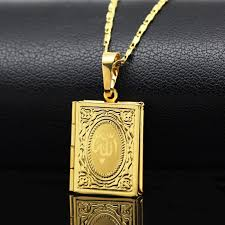 box necklace images Weiyu allah quran box necklace for women muhammad gold color jpg