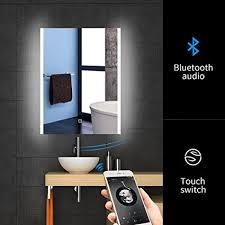 bluetooth bathroom mirror amazon com 24 x 32 led bluetooth bathroom mirror wall mounted