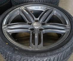 audi titanium wheels for sale 21 oem factory audi q7 s line tri spoke titanium wheels