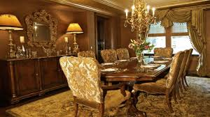 luxury dining room design with gold color theme orchidlagoon com