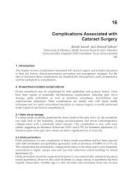 Blindness After Cataract Surgery Complications Associated With Cataract Surgery Pdf Download