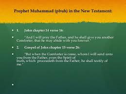comforter bible verse prophet muhammad in the bible by rachidm
