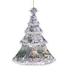 thomas kinkade christmas ornament collections