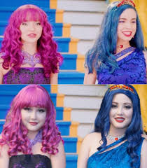 mal hair mal and evie cotillion costumes disney descendants amino