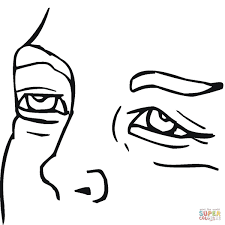 tired face coloring page free printable coloring pages