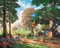 winnie pooh ii u2013 limited edition art thomas kinkade company