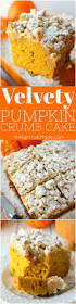 this incredibly moist velvety pumpkin crumb cake has all your