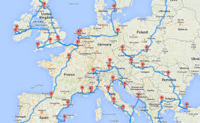 europe road trip map by randy list