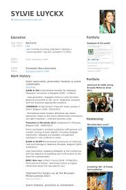 Event Manager Resume Sample by Hostess Resume Samples Visualcv Resume Samples Database
