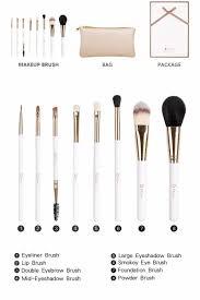 ducare 8pcs travel makeup brush set goat synthetic professional
