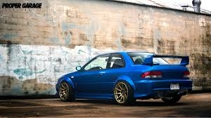 blue subaru gold rims beautiful gc8 car pinterest subaru subaru impreza and