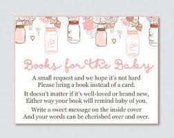 bring a book instead of a card wording pink and gold baby shower bring a book instead of a card