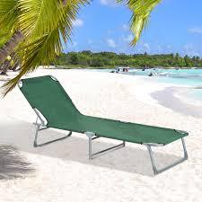 chaise longue transat outsunny chaise longue transat bain de soleil pliable dossier