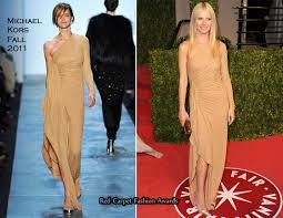 Vanity Fair Gwyneth Gwyneth Paltrow In Michael Kors 2011 Vanity Fair Oscar Party