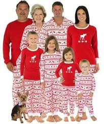 matching family pajamas new year deer printing striped
