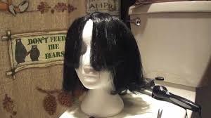 spirit halloween black wigs how to style cheap halloween wigs youtube