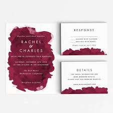 wedding invitations burgundy modern burgundy wedding invitation suite wedding invitation