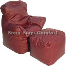 bean bag chair with ottoman burgundy bean bag chair and ottoman jpg