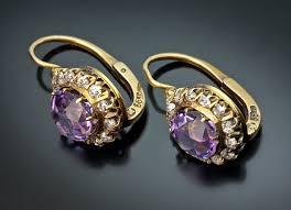 amethyst rings vintage images Antique amethyst jewelry amethyst diamond cluster earrings jpg