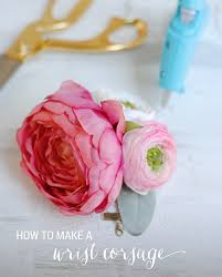 how to make wrist corsage celebrations secrets how to make a simple wrist corsage