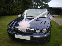 car ribbon luxury wedding car organza ribbon bows decoration kit ivory and