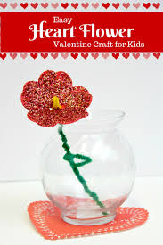 simple valentine heart flower craft for kids my little me best