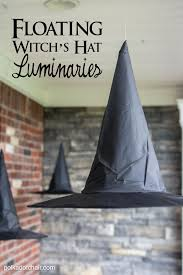 diy floating witch hat luminaries front porch decorations porch