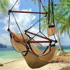 ancheer hanging hammock air chair with pillow cup holder foot
