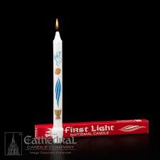 baptism candle baptismal candle light churchsupplies