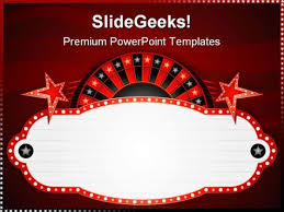 roulette neon sports powerpoint templates and powerpoint