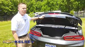 mustang trunk space how to open trunk on 2016 camaro and trunk space in the covertible