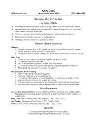 Resume For Cook Job by Cook Resume Examples Template Billybullock Us