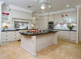 Marble Floors Kitchen Design Ideas Mid Century Modern Kitchen White Bronze Faucet Black Marble