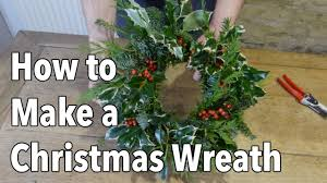 how to make a christmas holiday wreath youtube