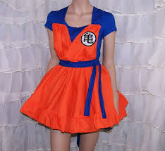 Goku Halloween Costumes Dragon Ball Goku Pinafore Apron Costume Skirt Mtcoffinz