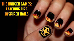 the hunger games catching fire inspired nail art youtube