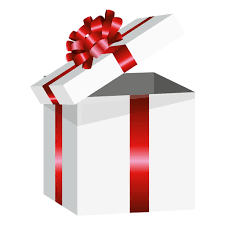 open wrapped present box transparent png u0026 svg vector