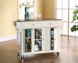 wooden kitchen cart with sturdy shelves and napkin bars and also