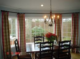 bay window kitchen curtains and window treatment valance ideas