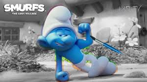 hefty smurf showing smurfs lost village movie coloring