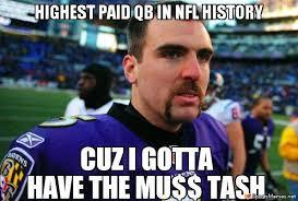 Funny Mustache Memes - joe flacco s mustache meme