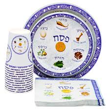 seder cups passover seder plate design paper goods party set 9 and 7