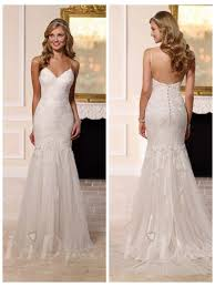 fit and flare wedding dress spaghettis straps fit and flare wedding dress 2503431